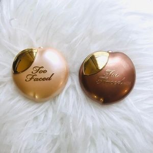 NEW Too Faced Peach Frost & Bronzer Peach Duo